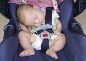 Sound Asleep in Car Seat