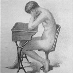 Photo from the book The Posture of School Children, 1913. School desks were thought to cause a wide range of health problems in children.